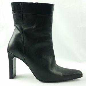BCBC Max Azria Black Leather Boots Size 10